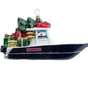 Vineyard Vines VV Boat Christmas Ornament
